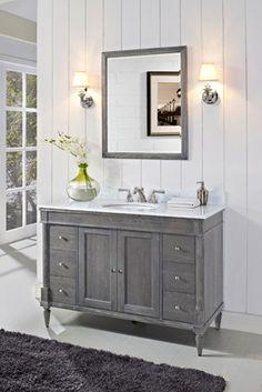 Bathrooms para paints peaks and valleys farrow for Gray rustic bathroom