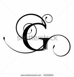 G Letter Fancy Font