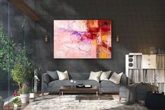 Large Modern Wall Art Painting,Large Abstract wall art,painting colorful,colorful abstract,office wall art,abstract texture art FY0042