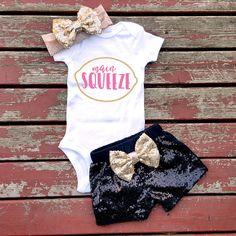 Main Squeeze Bodysuit Baby Girl Girls by GLITTERandGLAMshop