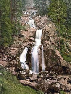 Black Forest, Germany - Triberg Waterfall, highest waterfall in Germany