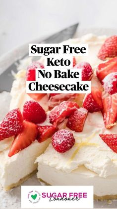 Low Sugar Desserts, Low Carb Sweets, No Bake Desserts, Carb Free Desserts, Easy Desserts, Keto No Bake Cheesecake, Healthy Cheesecake Recipes, Healthy Dessert Recipes, Drink Recipes