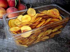 How To Make Dehydrated Peach Chips Recipe - LivingGreenAndFrugally.com