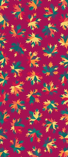 Russfussuk 'Sharp Maple' Pattern M3A #pattern #patterndesign #patternprint #maple #autumn #fall #leaf #leaves #generative #otoño #cadernos #padrões