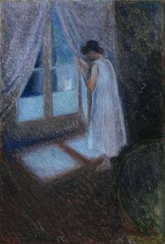 Edvard Munch (Norwegian, 1863 -1944) The Girl by the Window, 1893.