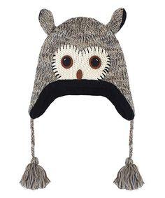 fbffb3093cc Kyber Outerwear Gray Owl Pom-Pom Wool-Blend Beanie. Gray OwlAnimal HatsBaby  ...