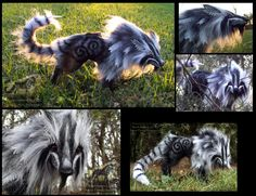 Hand Made Posable Frosted Ghost Wolf by Wood-Splitter-Lee.deviantart.com on @deviantART