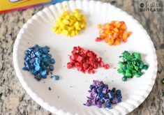 """Do you like to make things with your kids? My daughter has been asking to """"do crafts"""" during brother's nap time lately, and I love it! (That's my girl!) I try to think of a little project we can work on together in the afternoons that's simple and not too time-consuming. These DIY shaped crayons...Read More »"""