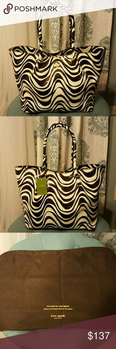 Kate Spade NWT .  Zebra Patent Leather.  With protection bag. Bought at Nordstrom Rack for a great price but never used. Magnetic closure. kate spade Bags Satchels