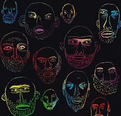 Nate Otto, Scratch Faces, 2012 by drollgirl, via Flickr