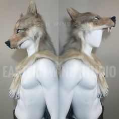 Fantasy Archer, Inspiration for LARP Animal Friendly Wolf Mask/ headdress Larp, Wolf Mask, Wolf Costume, Grandeur Nature, Armadura Medieval, Animal Masks, Fursuit, Character Outfits, Werewolf