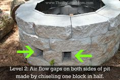 outdoor fire pit blocks | 11. Also on level two, we had to place the broken in half blocks ...