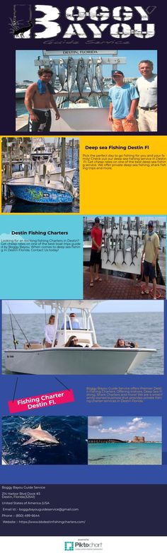 Looking for an exciting fishing Charters in Destin? Get cheap rates on one of the best boat trips guided by Boggy Bayou. When comes to deep sea fishing in Destin Florida. Contact Us today!