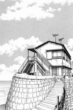 /// Landscape Drawings, Landscape Art, Cityscape Drawing, Comic Book Layout, Architecture Concept Drawings, Japon Illustration, Building Sketch, Background Drawing, Arte Sketchbook