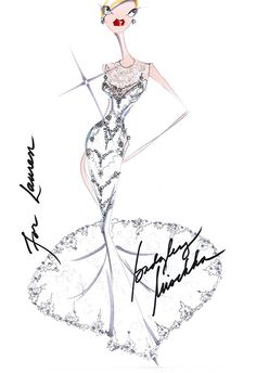 92 best fashion sketches images fashion sketchbook fashion 1960 Vintage Bridal Gowns lauren conrad s wedding dress sketch autographed by the designers mark badgley and james mischka