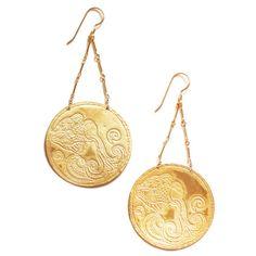 Aquarius Earrings from Flaming Lotus jewelry by lauren colligon