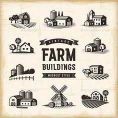 Vintage Farm Buildin
