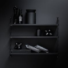 String Pocket Black Ash is one of the various color options in the Pocket series. String Pocket is a compact shelving system with deep shelves. Timber Shelves, Black Shelves, Deep Shelves, Form Design, Santa Cole, String Regal, String Pocket, String Shelf, String System