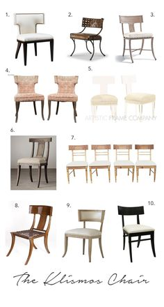 Elements of Style Blog | The Classic Klismos | http://www.elementsofstyleblog.com