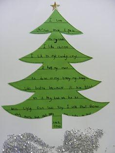 114 best christmas poetry songs images on pinterest songs christmas tree concrete poem year 2 maxwellsz