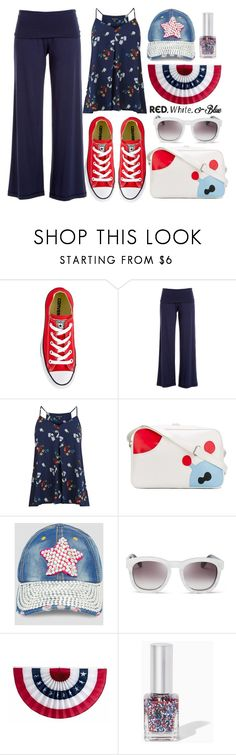 """Red, White and Blue Fashion"" by alaria ❤ liked on Polyvore featuring Converse, Max Studio, Warehouse, Walter Van Beirendonck, Ashley Stewart, Wildfox, redwhiteandblue and july4th"