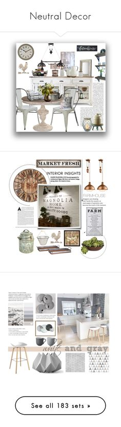 """Neutral Decor"" by doragutierrez ❤ liked on Polyvore featuring interior, interiors, interior design, home, home decor, interior decorating, Pier 1 Imports, Gerson, San Miguel and ELK Lighting"