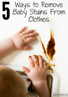 5 Ways to remove Baby Stains from Clothes