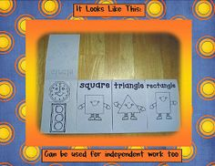 foldables | shape flip book foldable by Kindergarten Crayons .