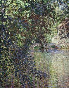 """artist-monet: """"Watermill at Limetz, Claude Monet """" Claude Monet, Pierre Auguste Renoir, Camille Pissarro, Monet Paintings, Landscape Paintings, Wassily Kandinsky, Artist Monet, Pont Paris, Photo D Art"""