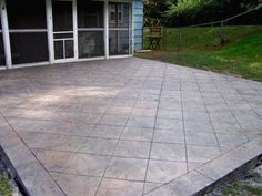 Stamped Concrete Patios