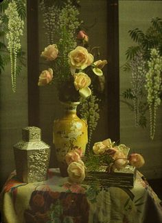 Autochrome - Auguste and Louis Lumière - another beautiful still life