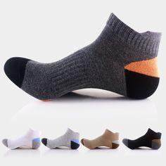 socks, compression socks, mens socks, compression socks running, cotton socks, fashion, mens sport socks, Comfortable, Hiking Socks, Basketball Socks - 5 Pairs/Pack Men's Hiking Socks Sport Socks Basketball Socks, Duck Tongue-Like Heel (5 Color/Pack )