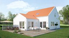 Saltö Modern är en perfekt 1.5 plans villa för den som söker ett större hus med ryggåstak för extra rymd.