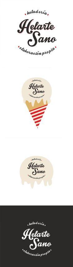 Ya falta poco para que la heladería Helarte Sano abra sus puertas en Sarón. Por ahora os dejamos un poquito de su imagen corporativa para que vayáis abriendo boca.  Una estética clásica, una heladería de toda la vida, con objetos vintage y un logotipo hipster... y voilà, una heladería en la que apetece entrar, probar sus maravillosos helados artesanos y pasar un rato distendido...