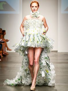 Subway Steals Fashion Week Spotlight with Sandwich-Wrapper-Themed Dresses - iVillage
