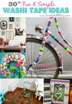 i wonder about decorating e's old trucks and bikes with washi tape to make it girly for selah???