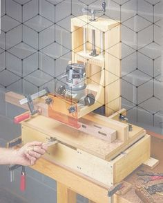 Prodigious Tips: Wood Working Christmas How To Make woodworking bench accessories. Router Lift, Woodworking Techniques, Woodworking Bench, Joinery, Wood Working, Projects To Try, Decorative Boxes, Shelves, How To Plan