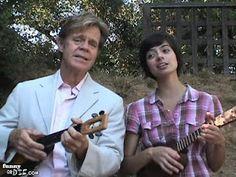 William H Macy plays ukulele