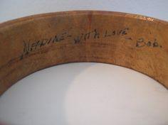 Vintage handmade wood bangle