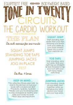 Tone in Twenty Do Anywhere Workouts #health #fitness #workouts