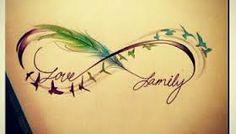 Resultado de imagem para tattoo infinito familia