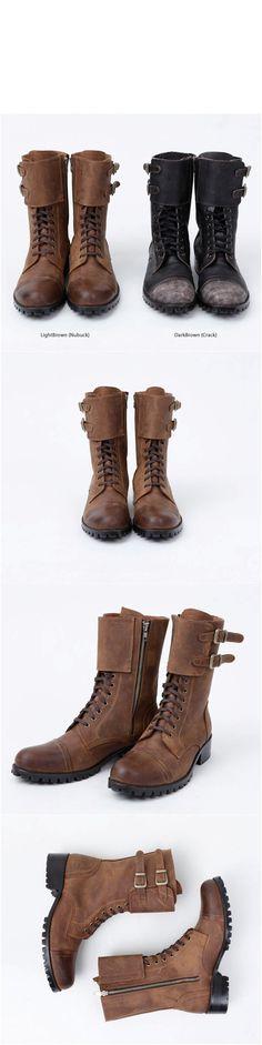 Military Vintage Biker Boots - 20 - NSIE NewStylish