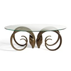 Aries Table in Bronze