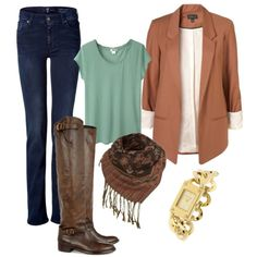 i love this whole outfit! boots and blazer! ( i think , i will try that outfit to campus xixi)