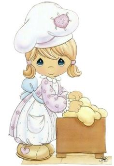 precious moments mother in the kitchen Precious Moments Quotes, Precious Moments Coloring Pages, Precious Moments Figurines, Cute Images, Cute Pictures, Scrapbooking, Holly Hobbie, My Precious, Cute Drawings