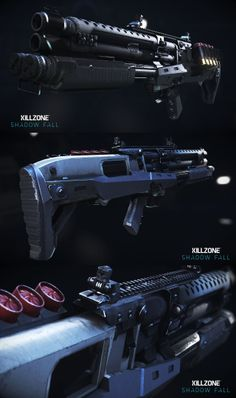 Killzone: Shadow-Fall: Helghast VC30 Assault-Shotgun.