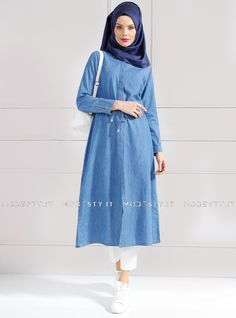 islamische kleidung fuer frauen mymodestystyle.com besuchen sie unsere shop #hijab #abayas #tuekische kleider #abendleider #islamischekleidung  Denim Topcoat - Light Blue - Refka - <p>Fabric Info:</p> <p>100% Cotton</p> <br> <p>Unlined</p> <p>Weight: 0.446 kg</p> <p>Measures of 38 size:</p> <p>Height: 123 cm</p> <p>Bust: 102 cm</p> <p>Waist: 96 cm</p> <p>Hips: 114 cm</p> - SKU: 194039. Buy now at http://muslimas-shop.com/denim-topcoat-light-blue-refka.html