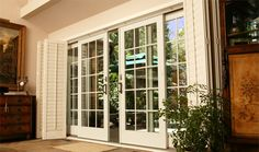 FRENCH DOORS AND SLIDERS  (for Lynette)    Houzz   I love rooms with french doors.There is something fresh and appealing about a room f...