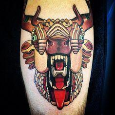 AJ Fosik - Sad Demon Oaths. Tattooed by Tim Rix at Westside Tattoo #ajfosik #mastodon #tattoo #timrix #westsidetattoo
