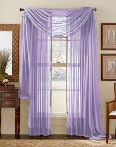 "This Picture shows two Sheer Panels. This Package contains one Sheer Scarf. Scarf measures 60x216"""" Decorate every window with style and sophistication. Allows natural light to flow through the room Have pocket insert that create a clean, tailored look on a decorative rod Hang with standard or decorative rod and brackets (not included)"